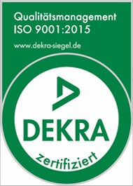 "C-P-S certified by ""Qualitätsmanagement of DEKRA"""